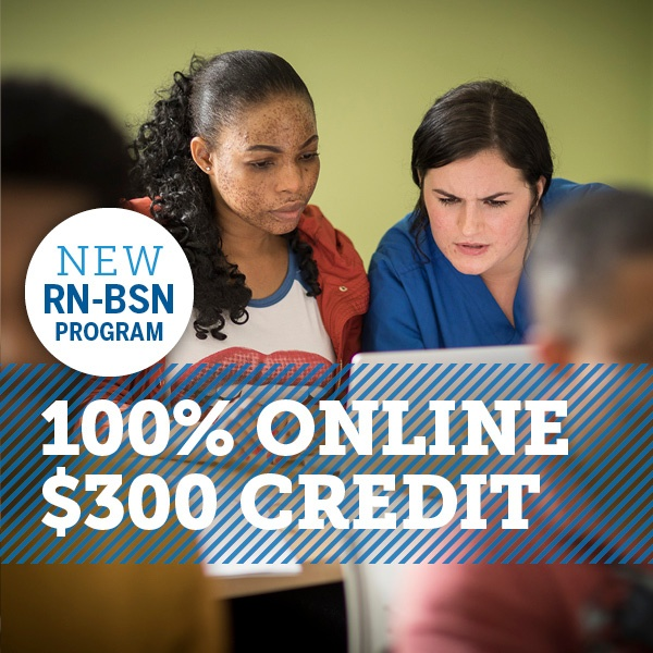 New RN-BSN 100% online and $300 per credit