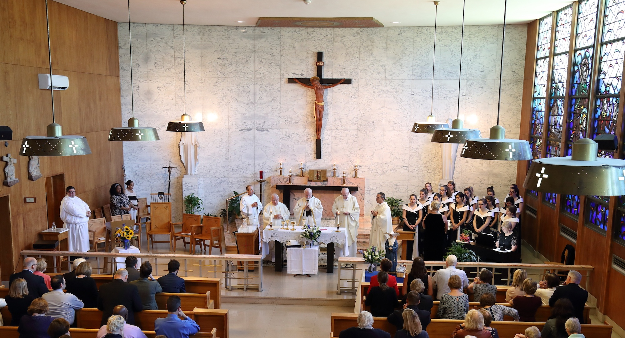 Cardinal OMalley Saying Mass for Laboure Colleges 125th Anniversary.jpg