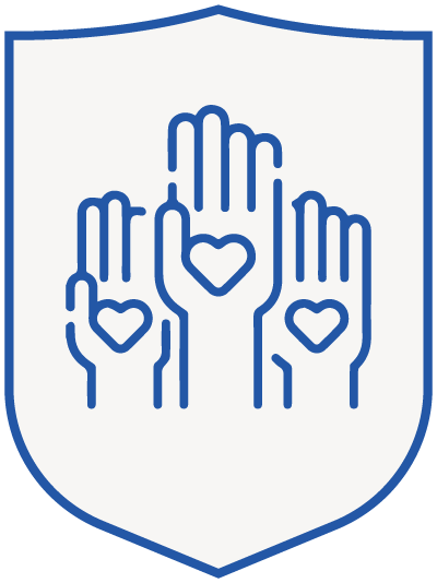 arms - blue shield