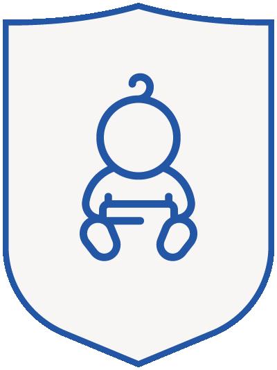 baby - blue shield