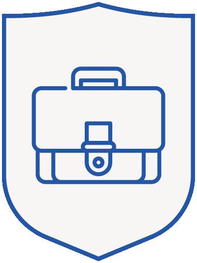 briefcase - blue shield-1