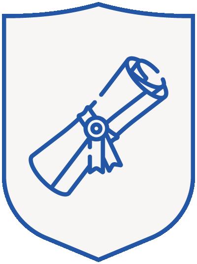 diploma - blue shield