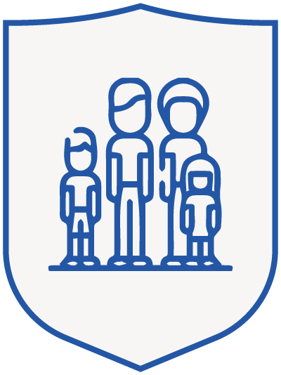 family 1 - blue shield