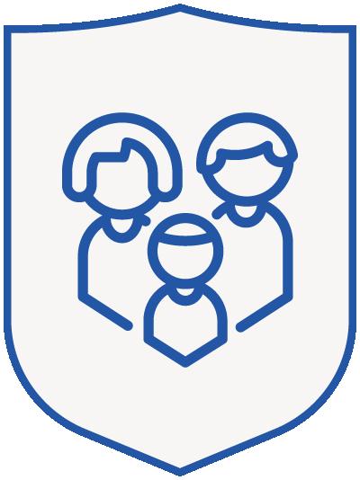 family 2 - blue shield