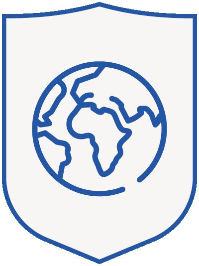 globe - blue shield