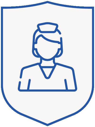 nurse - blue shield