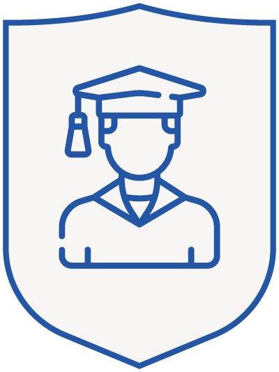 student - blue shield